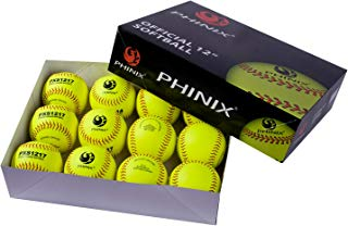 PHINIX Practice Softballs Official Size and Weight Professional Quality,Practice, Competitions, Gifts. (PXS1217)