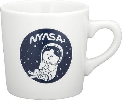 ネコノバ(Nekonoba) マグカップ ホワイト×ネイビー 280ml 電子レンジ・食器洗乾燥機使用可 202420