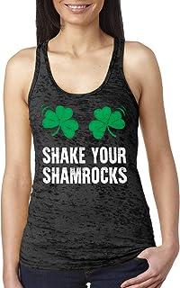 Shake Your Shamrocks Ladies Burnout Tank Top
