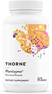 Thorne Research - Plantizyme - Plant-Based Enzyme Complex for Vegetarian Digestive Support - 90 Capsules