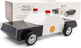 Candylab Toys - Police Cruiser Wooden Car - Modern Vintage Style - Solid Beech Wood