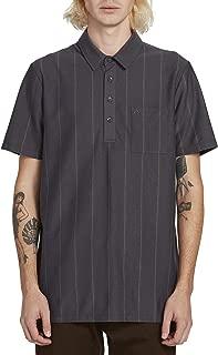 Volcom Men's Cylis Striped Polo Short Sleeve Shirt
