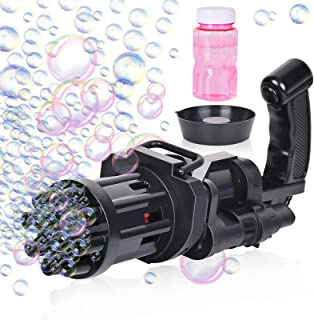 Auralto Bubble Machine, Bubble Machine 8-Hole Huge Amount Automatic Bubble Maker Machine Outdoor Toys for Kids Ages 3-12 E...