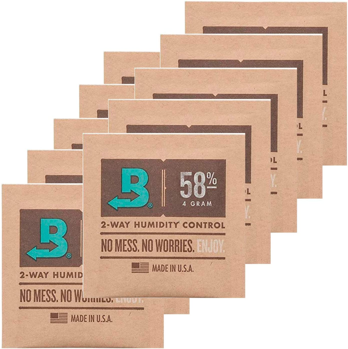 Boveda Humidipak - Humidipak (10 unidades, 58% de 2 vías, 4 g, incluye funda)