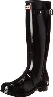 Hunter Women's Original Tall Gloss Rain Boot (Black / Size 8)