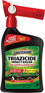 Spectracide Triazicide Insect Killer For Lawns & Landscapes Concentrate, Ready-to-Spray, 32-Ounce, 6-Pack