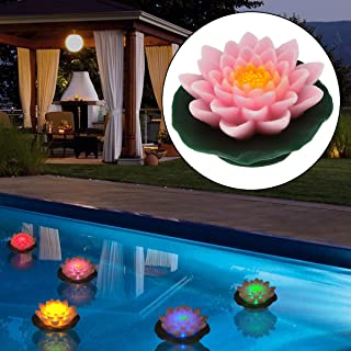 Home Reflections H194671 Floating Flower Flameless Candle w/ Timer