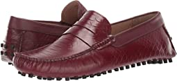 Oxblood Croco Print Calfskin Leather