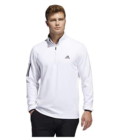 adidas Golf 3-Stripe Midweight Layer (White/Black) Men