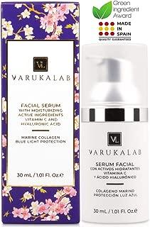 Sérum facial antiarrugas ultra concentrado con ácido hialurónico, vitamina C, colágeno y protección luz azul. Tratamiento hidratante día/noche antiedad, antioxidante y reafirmante (hombre y mujer)