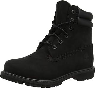 حذاء برقبة للنساء من Timberland Waterville برقبة مزدوجة ودانتيل مقاوم للماء، أسود (جلد النوبوك)