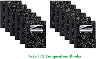 Mead Composition Notebook, Wide Ruled, 100 Sheets, 12 Books