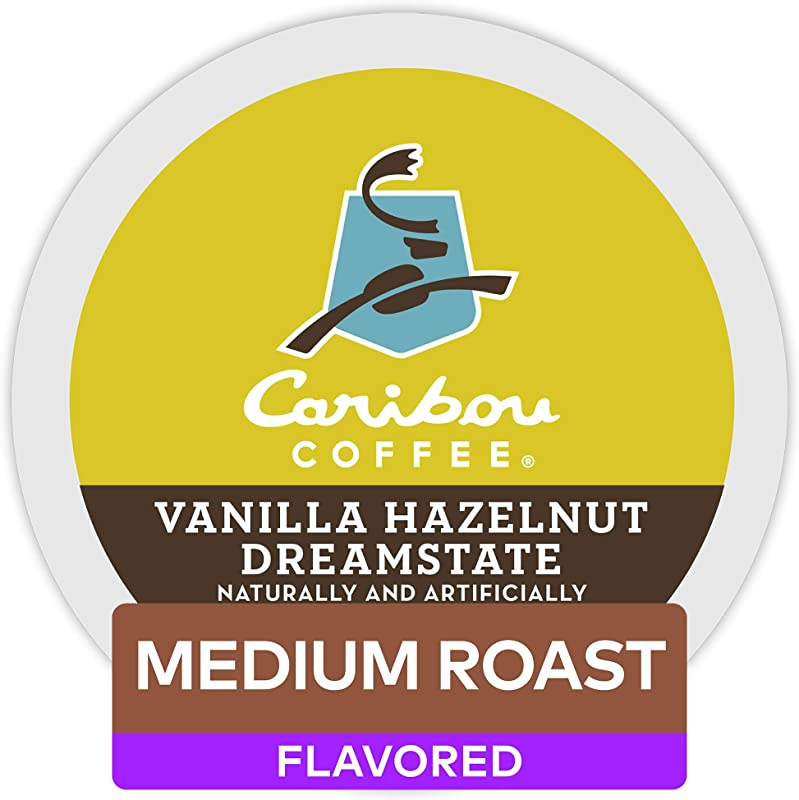Caribou Coffee Vanilla Hazelnut Dreamstate Single Serve Coffee K Cup Pod Flavored Coffee 96