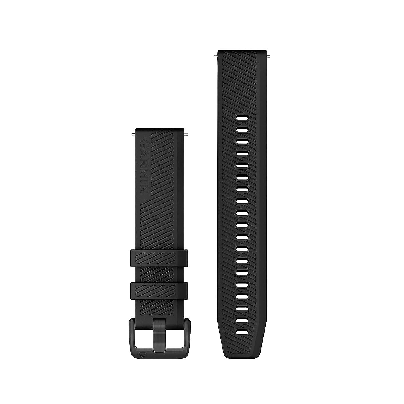 窓を洗う制限する母音ガーミン(GARMIN) QuickRelease バンド 20mm Black Stainless Steelシリコン  010-12926-01