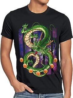 Shenlong Dragón Camiseta para Hombre T-Shirt Shenron Z Goku Vegeta Roshi Ball