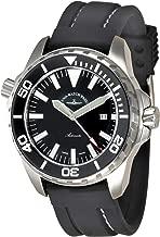 Zeno Professional Diver Pro Diver 2 Black Dial Silicone Strap Men's Watch 6603-A1