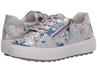 Rieker D1000 Amira 00 (Off-White/Blue/Ice) Women