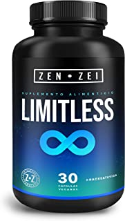 ZEN•ZEI | LIMITLESS BRAIN - Nootrópico 100% Natural — Formulado para: Claridad, Concentración, Memoria — Máximo Rendimiento Cerebral — Neuroprotector Científicamente Formulado con 8 Ingredientes