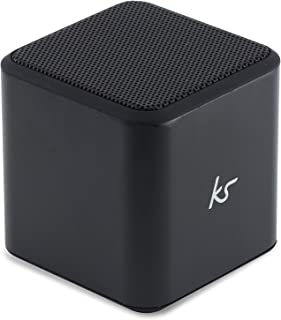 KitSound Cube Universal Bluetooth Wireless Portable Speaker, Compatible with Smartphones - Black