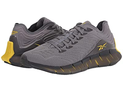 Reebok Zig Kinetica (Utility Yellow/Pure Grey) Athletic Shoes