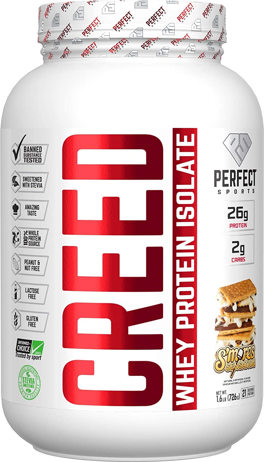 Max 68% OFF PERFECT SPORTS Creed Whey Isolate g 725 Discount is also underway Sensation S'Mores