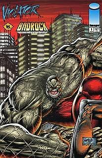 VIOLATOR VS BADROCK #1,1A,2-4 by ALAN MOORE complete story (VIOLATOR VS BADROCK (1995 IMAGE))
