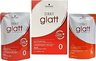 Schwarzkopf Glatt Hair Straightening Cream For Curly Or Frizzy Hair No 0+ Neutraliser Moisturist Hair Straightening Cream 120ml made in thailand