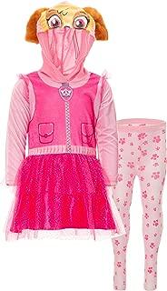 Nickelodeon Paw Patrol Girls' Hooded Costume Dress & Leggings Set
