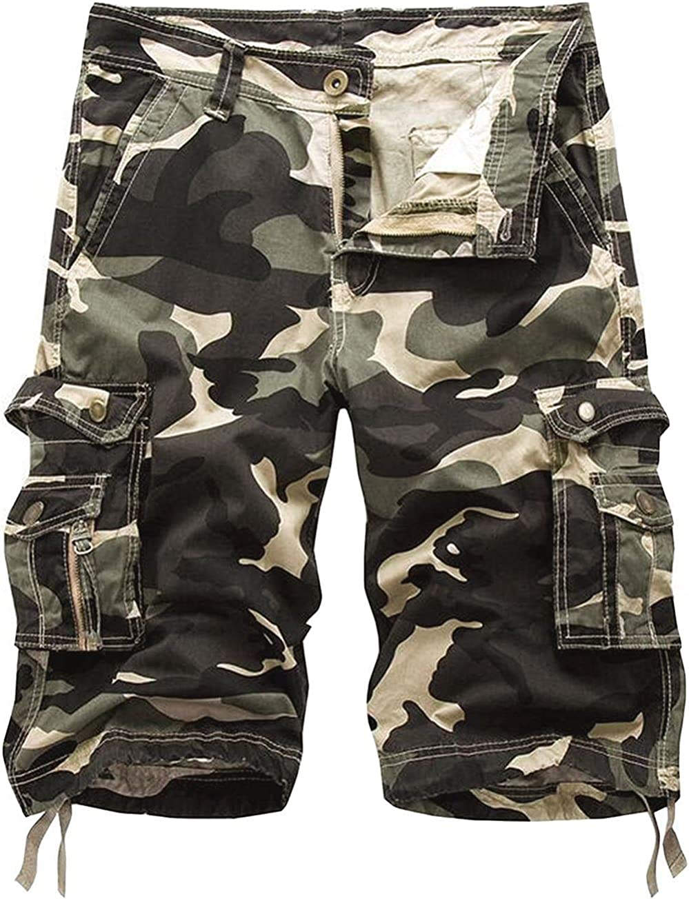 Outlet ☆ Free Shipping GOCHIC Direct store Men's Relaxed Fit Cargo Pockets Multi with Shorts