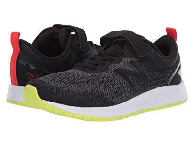 New Balance Kids Fresh Foam Arishi v3 Bungee (Little Kid/Big Kid) (Black/Lemon Slush) Boys Shoes