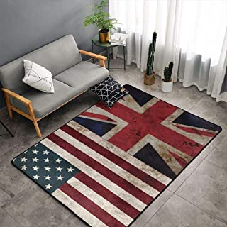 NiYoung Bedroom Living Room Kitchen King Size Area Rug Home Decor - USA UK Flag Floor Mat Doormats Quick Dry Bath Mat Yoga Mat Throw Rugs Runner (60 x 39 Inch)