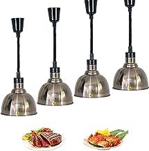 S-pomy Lampe Chauffante pour Aliments, Lampe Chauffe Plats Commercial, Lampe D'isolation Alimentaire pour Pizza Steak Buff...