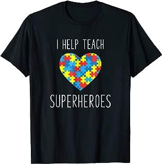 Paraprofessional Shirt Autism Help Teach Superheroes Gift