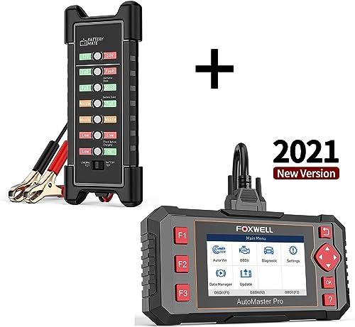 high quality FOXWELL 12V 24V Battery Tester Digital Car Battery Alternator Tester and NT604 Elite OBD2 Scanner ABS wholesale SRS discount Transmission, Check Engine Code Reader,[2021 New Version] SRS Airbag Scanner online