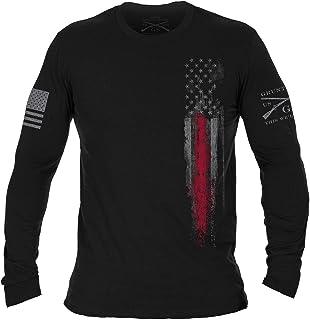 Red Line Flag - Long Sleeve Black