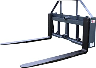 """Titan Distributors Inc. UA 42"""" Pallet Fork Frame Attachment with Headache Rack and Hitch 