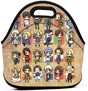 KILILY Hetalia Group Men Women Kids Insulated Lunch Bag Tote Reusable Lunch Box For Work Picnic School