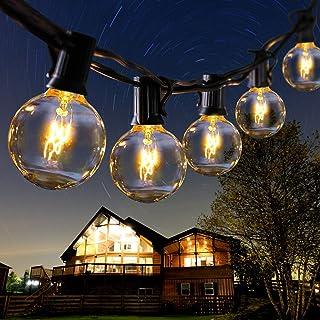 ROVLAK Guirlande Lumineuse Exterieure avec 30 Ampoules 11M G40 Guirlande Guinguette Extérieur Étanche IP44 E12 Base Lumièr...