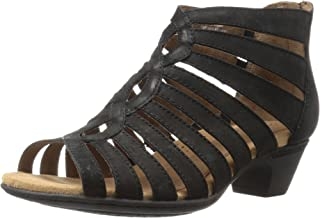 Cobb Hill Women's Abbott Gladiator Sandal, Black Nubuck, 9 W US