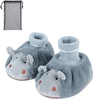 Pantofole invernali per bambini e bambine, con suola morbida e antiscivolo, comode scarpe da casa con calzini
