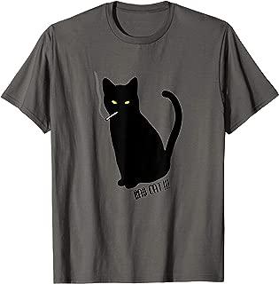 Rebel Smoking Bad Cat T-Shirt
