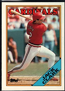 Baseball MLB 1988 Topps Tiffany #100 Jack Clark Cardinals