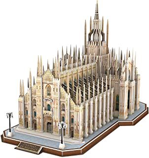 CubicFun 3D Italy Interesting Puzzles for Hobbies, Cathedral Architectures Church Building Model Kits Toys for Adults, Duomo di Milano, 251 Pieces