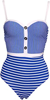 Sexy White Striped One Piece Swimsuit Women Push Up Bodysuit Summer Swimsuit Beach Bathing Suit
