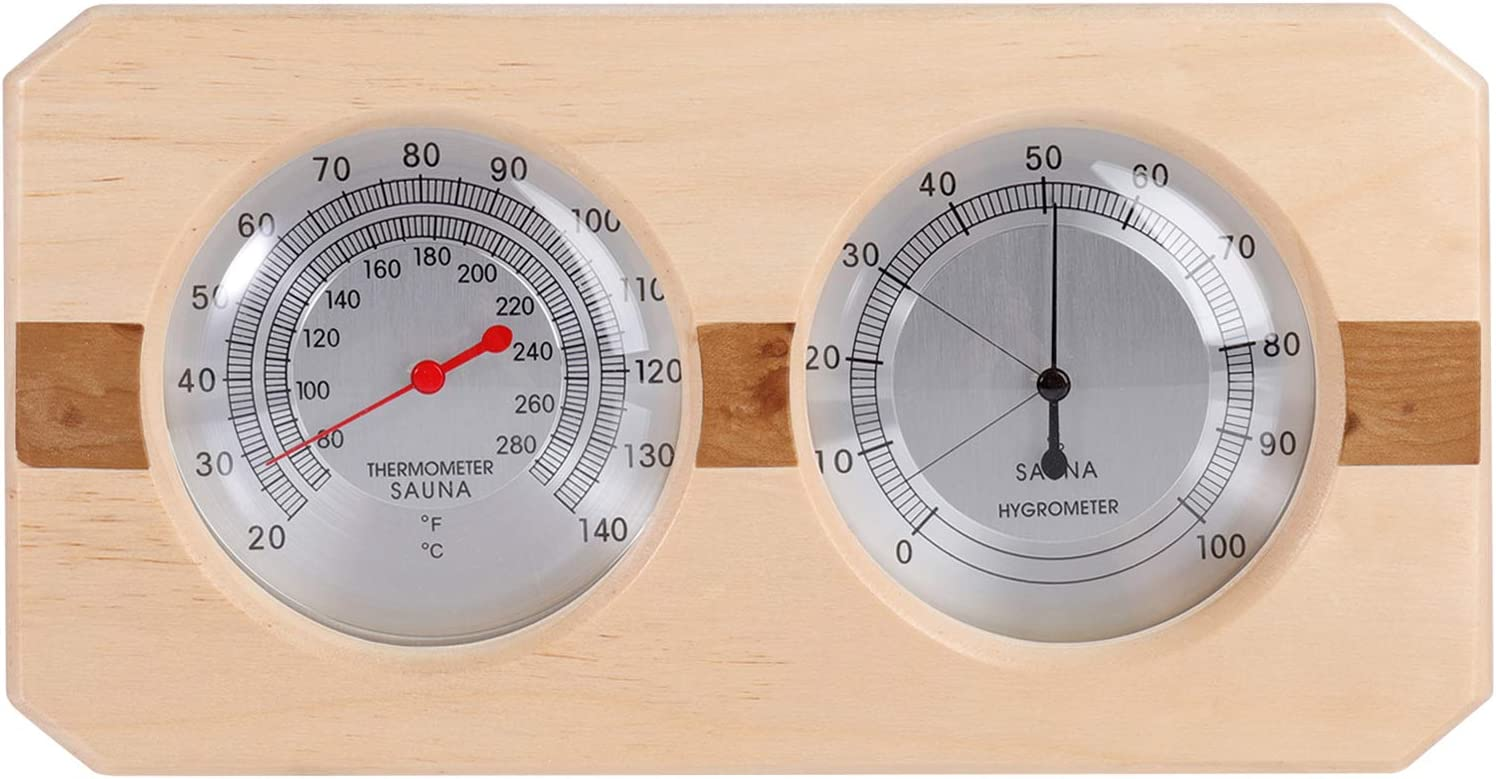 Brand Cheap Sale Venue MIFXIN Sauna Thermometer Hygrometer Double Wooden Dial Max 44% OFF 2-in-1