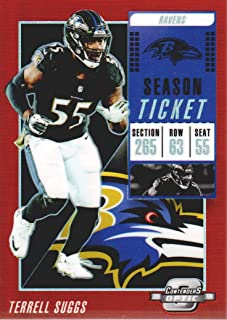 2018 Panini Contenders Optic Football Red #82 Terrell Suggs 096/199 Baltimore Ravens