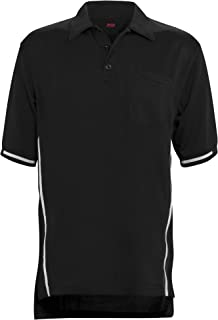 Adams USA Short Sleeve Baseball Umpire Shirt with Side Stripe - Sized for Chest Protector