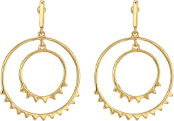 Ellie Double Circle Drop Earrings