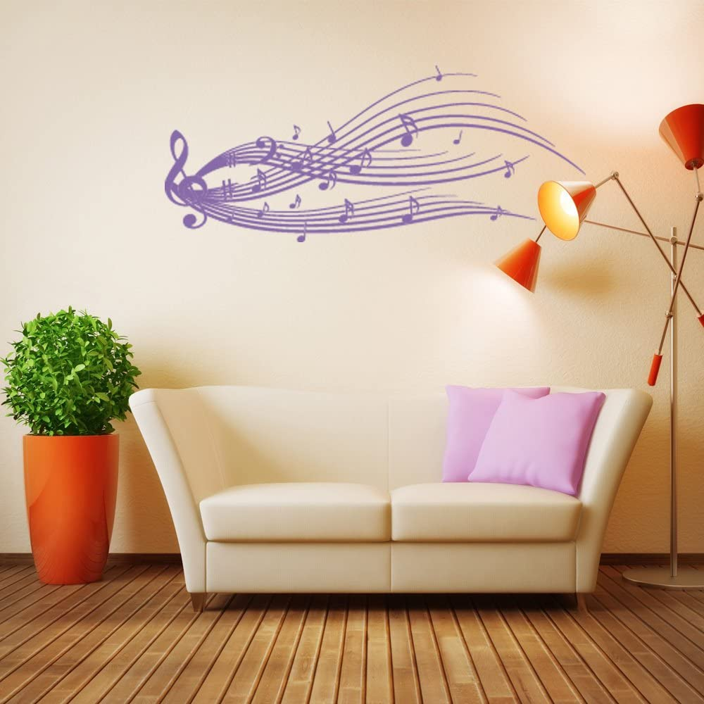 Music Max 90% OFF Staff New arrival Wall Decal by Style Notes - Apply Sti Musical