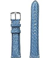 Michele - 18mm Seamist Fish Skin Strap Blue